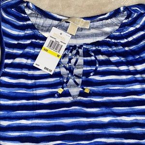🆕 Blue and White Striped Michael Kors Tank Top